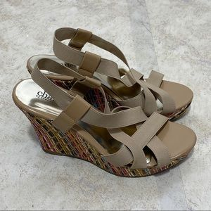 Charles by Charles David Colorful Wedges Size 7.5
